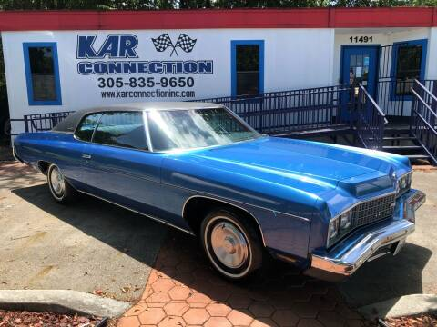 1973 Chevrolet Impala for sale at Kar Connection in Miami FL