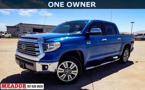 2018 Toyota Tundra for sale at Meador Dodge Chrysler Jeep RAM in Fort Worth TX
