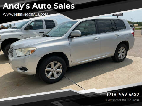 2008 Toyota Highlander for sale at Andy's Auto Sales in Hibbing MN