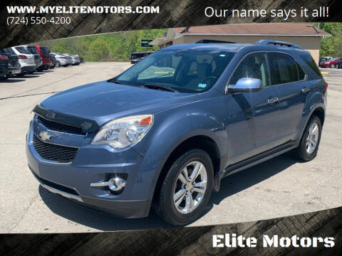 2011 Chevrolet Equinox for sale at Elite Motors in Uniontown PA