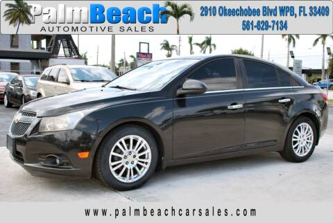 2011 Chevrolet Cruze for sale at Palm Beach Automotive Sales in West Palm Beach FL