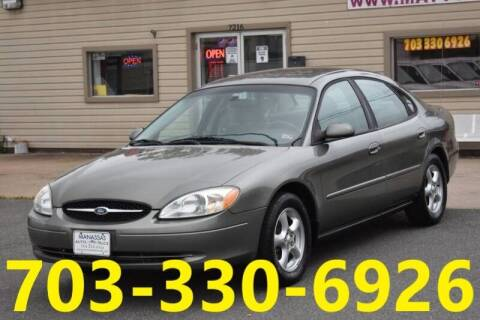 2003 Ford Taurus for sale at MANASSAS AUTO TRUCK in Manassas VA
