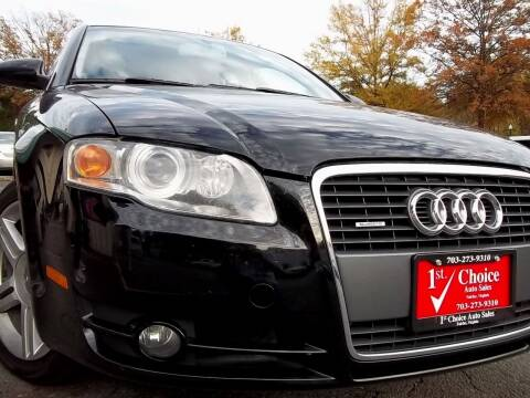 2006 Audi A4 for sale at 1st Choice Auto Sales in Fairfax VA