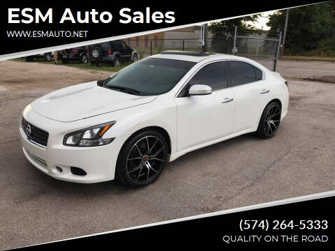 2014 Nissan Maxima for sale at ESM Auto Sales - Regular Inventory in Elkhart IN