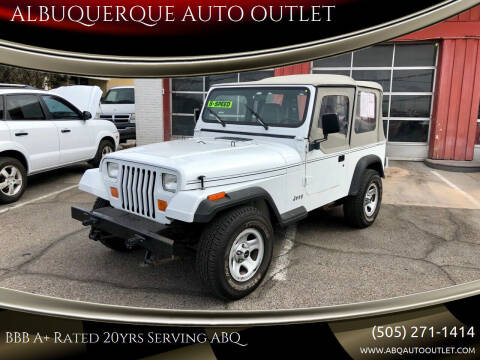 1992 Jeep Wrangler for sale at ALBUQUERQUE AUTO OUTLET in Albuquerque NM