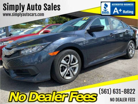 2017 Honda Civic for sale at Simply Auto Sales in Palm Beach Gardens FL