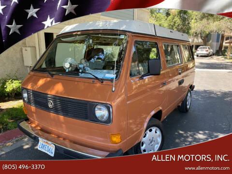 1982 Volkswagen Vanagon for sale at Allen Motors, Inc. in Thousand Oaks CA
