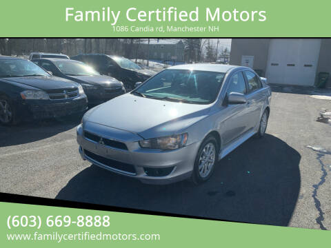 2012 Mitsubishi Lancer for sale at Family Certified Motors in Manchester NH