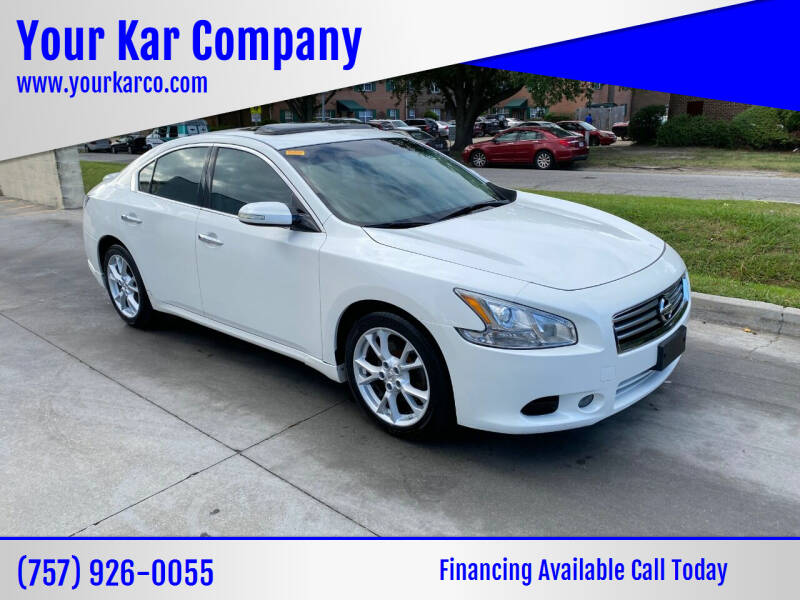 2012 Nissan Maxima for sale at Your Kar Company in Norfolk VA