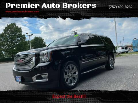 2017 GMC Yukon XL for sale at Premier Auto Brokers in Virginia Beach VA