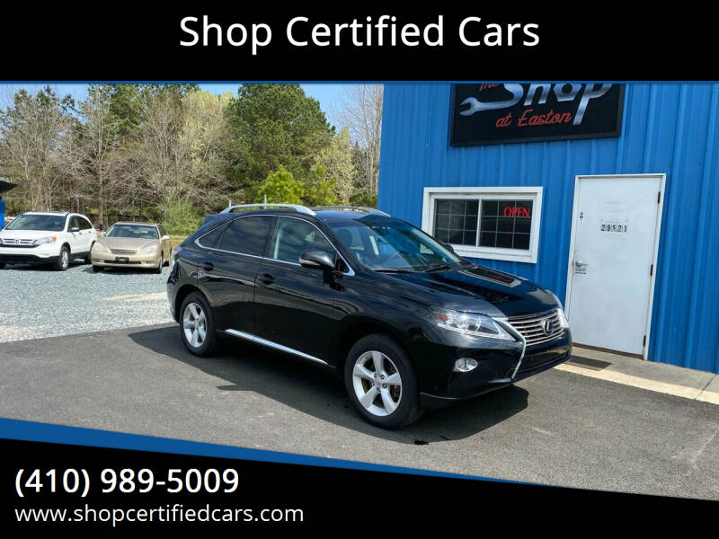 2013 Lexus RX 350 for sale at Shop Certified Cars in Easton MD