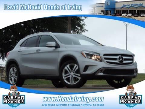 2016 Mercedes-Benz GLA for sale at DAVID McDAVID HONDA OF IRVING in Irving TX