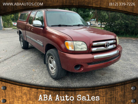 2003 Toyota Tundra for sale at ABA Auto Sales in Bloomington IN