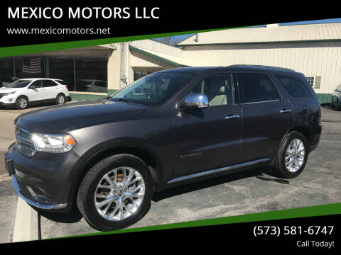 2014 Dodge Durango for sale at MEXICO MOTORS LLC in Mexico MO