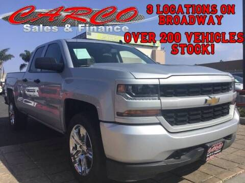 2018 Chevrolet Silverado 1500 for sale at CARCO SALES & FINANCE in Chula Vista CA