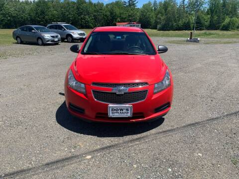 2014 Chevrolet Cruze for sale at DOW'S AUTO SALES in Palmyra ME