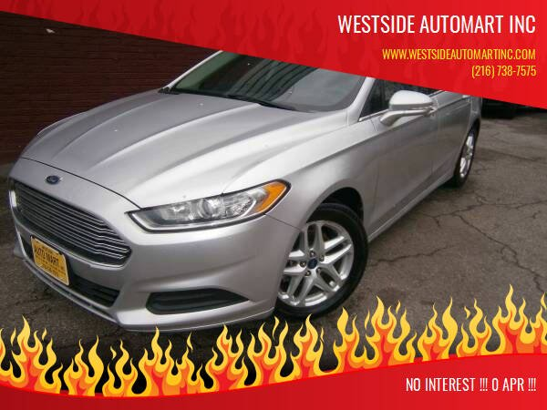 2014 Ford Fusion for sale at WESTSIDE AUTOMART INC in Cleveland OH