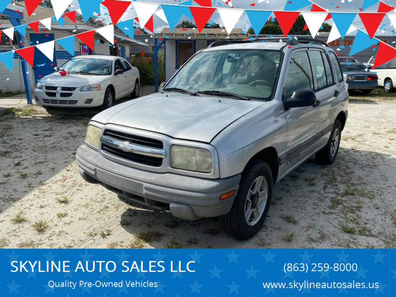 2002 Chevrolet Tracker for sale at SKYLINE AUTO SALES LLC in Winter Haven FL