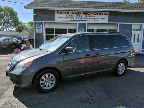 2008 Honda Odyssey for sale at Richland Motors in Cleveland OH
