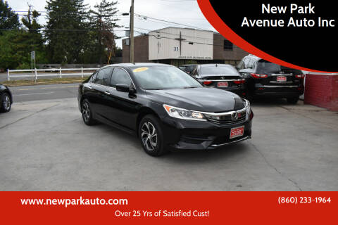 2016 Honda Accord for sale at New Park Avenue Auto Inc in Hartford CT