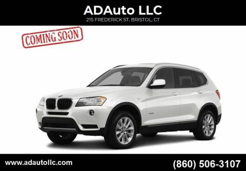 2013 BMW X3 for sale at ADAuto LLC in Bristol CT