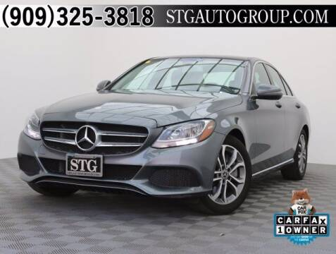 2017 Mercedes-Benz C-Class for sale at STG Auto Group in Montclair CA
