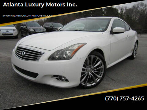 2012 Infiniti G37 Coupe for sale at Atlanta Luxury Motors Inc. in Buford GA