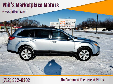 2012 Subaru Outback for sale at Phil's Marketplace Motors in Arnolds Park IA