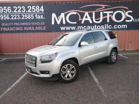 2016 GMC Acadia for sale at MC Autos LLC in Pharr TX
