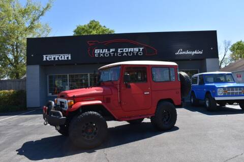 1977 Toyota Land Cruiser for sale at Gulf Coast Exotic Auto in Biloxi MS
