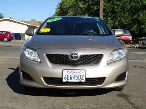 2009 Toyota Corolla for sale at Moon Auto Sales in Sacramento CA