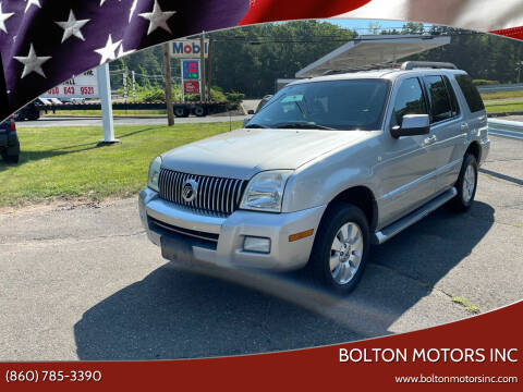 2007 Mercury Mountaineer for sale at BOLTON MOTORS INC in Bolton CT