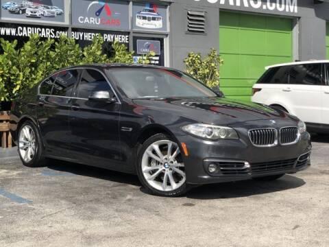 2014 BMW 5 Series for sale at CARUCARS LLC in Miami FL