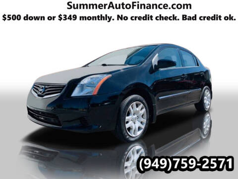 2012 Nissan Sentra for sale at SUMMER AUTO FINANCE in Costa Mesa CA
