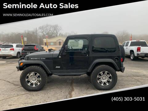 2006 Jeep Wrangler for sale at Seminole Auto Sales in Seminole OK