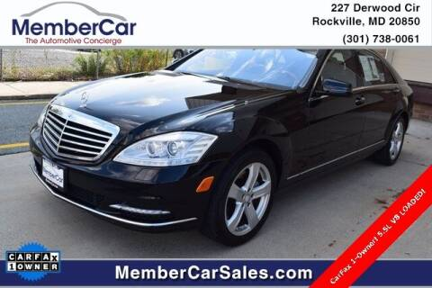 2010 Mercedes-Benz S-Class for sale at MemberCar in Rockville MD