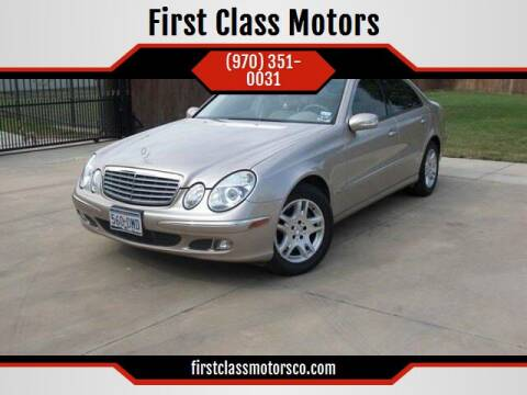 2005 Mercedes-Benz E-Class for sale at First Class Motors in Greeley CO