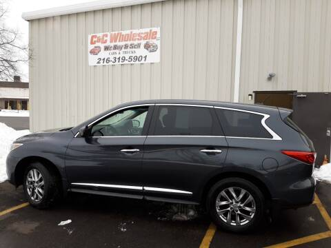 2013 Infiniti JX35 for sale at C & C Wholesale in Cleveland OH