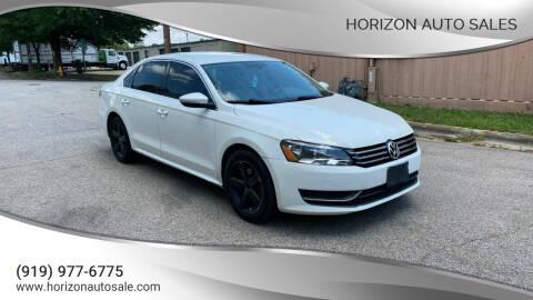 2012 Volkswagen Passat for sale at Horizon Auto Sales in Raleigh NC