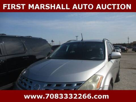 2004 Nissan Murano for sale at First Marshall Auto Auction in Harvey IL