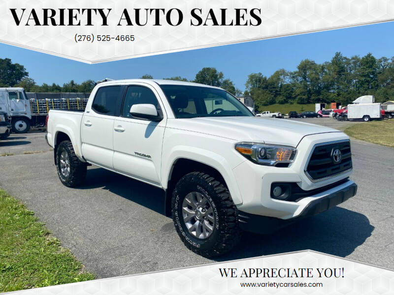 2017 Toyota Tacoma for sale at Variety Auto Sales in Abingdon VA