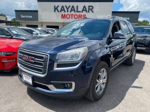 2015 GMC Acadia for sale at KAYALAR MOTORS in Houston TX