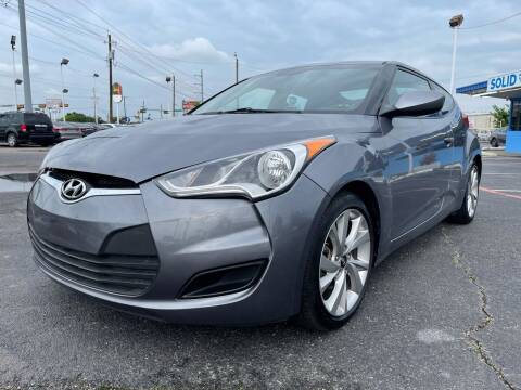 2016 Hyundai Veloster for sale at SOLID MOTORS LLC in Garland TX