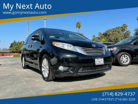 2014 Toyota Sienna for sale at My Next Auto in Anaheim CA
