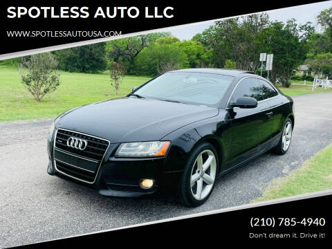 2010 Audi A5 for sale at SPOTLESS AUTO LLC in San Antonio TX