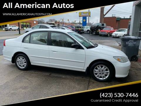 2005 Honda Civic for sale at All American Autos in Kingsport TN