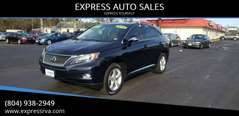 2010 Lexus RX 450h for sale at EXPRESS AUTO SALES in Midlothian VA