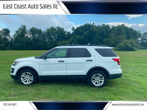 2016 Ford Explorer for sale at East Coast Auto Sales llc in Virginia Beach VA
