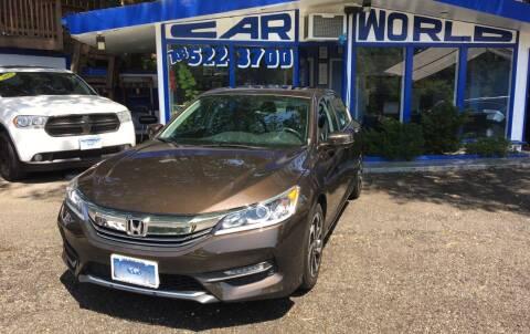 2016 Honda Accord for sale at Car World Inc in Arlington VA