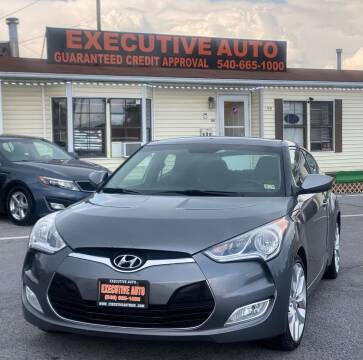 2013 Hyundai Veloster for sale at Executive Auto in Winchester VA